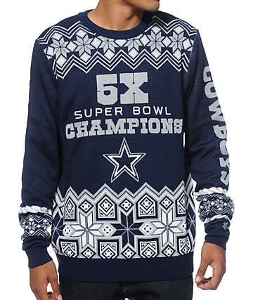 NFL Forever Collectibles Cowboys Super Bowl Sweater