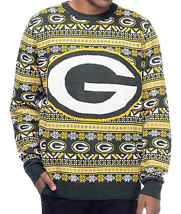 NFL Forever Collectibles Green Bay Packers Aztec Sweater