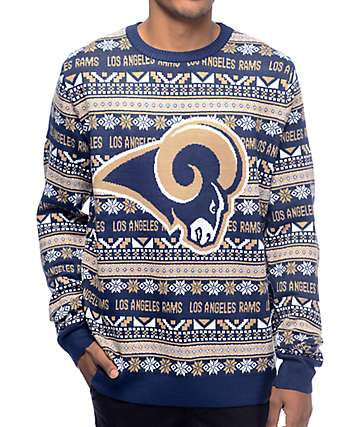 NFL Forever Collectibles LA Rams Aztec Sweater