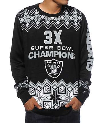 NFL Forever Collectibles Raiders Super Bowl Sweater