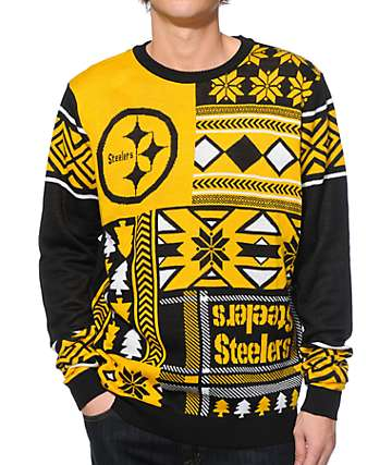 NFL Forever Collectibles Steelers Patches Sweater