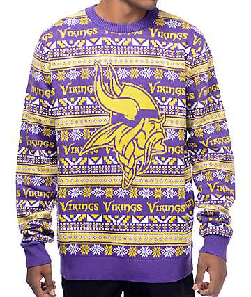 NFL Forever Collectibles Vikings Aztec Sweater