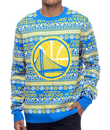 NFL Forever Collectibles Warriors Aztec Ugly Sweater