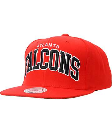 NFL Mitchell And Ness Atlanta Falcons Red Snapback Hat
