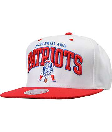 NFL Mitchell And Ness New England Patriots White Snapback Hat