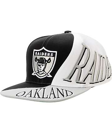 NFL Mitchell And Ness Oakland Raiders Skew Snapback Hat