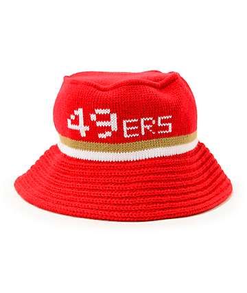 NFL Mitchell and Ness 49ers Knit Bucket Hat