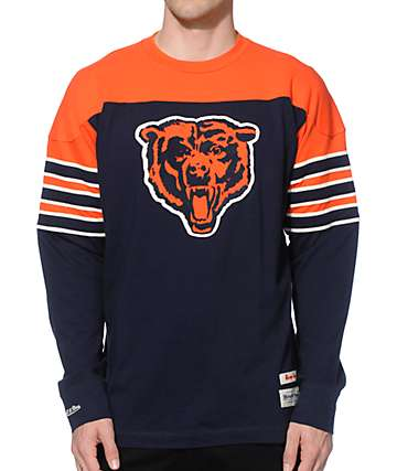 NFL Mitchell and Ness Bears Pump Fake Knit Jersey
