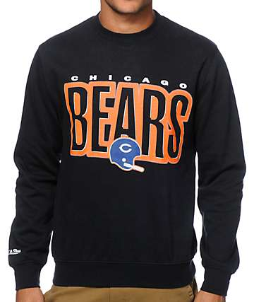 NFL Mitchell and Ness Bears Retro Blur Crew Neck Sweatshirt