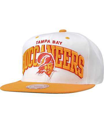 NFL Mitchell and Ness Buccaneers White Arch Snapback Hat