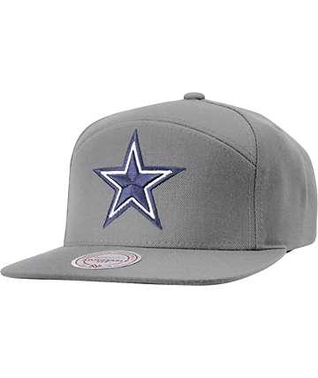 NFL Mitchell and Ness Cowboys Horizontal Grey Snapback Hat