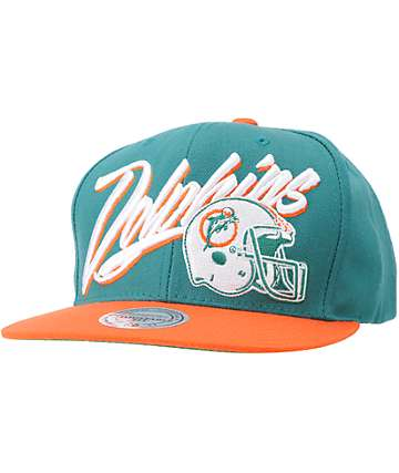 NFL Mitchell and Ness Dolphins Vice Snapback Hat