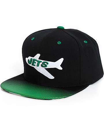 NFL Mitchell and Ness Jets Stop On A Dime Snapback Hat