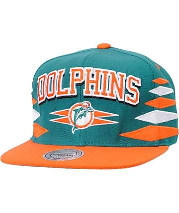 NFL Mitchell and Ness Miami Dolphins Diamond Snapback Hat