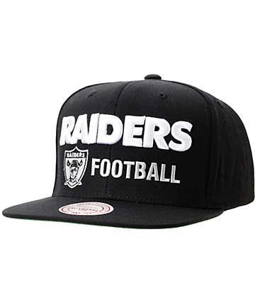 NFL Mitchell and Ness Oakland Raiders Blockers Black Snapback Hat