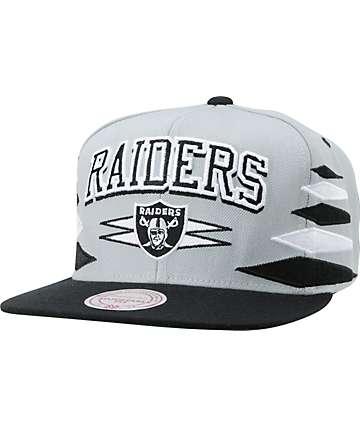 NFL Mitchell and Ness Oakland Raiders Diamond Snapback Hat