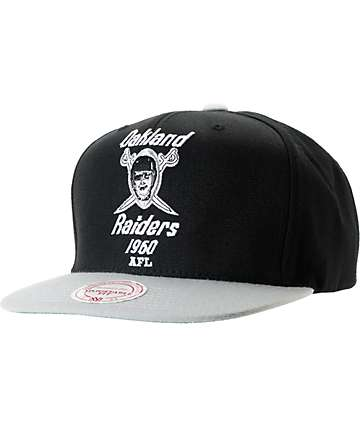 NFL Mitchell and Ness Oakland Raiders Throwback XL 2Tone Snapback Hat