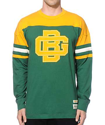 NFL Mitchell and Ness Packers Pump Fake Knit Jersey