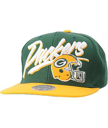 NFL Mitchell and Ness Packers Vice Snapback Hat