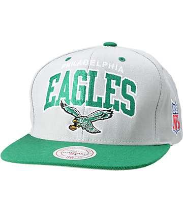 NFL Mitchell and Ness Philadelphia Eagles Grey Snapback Hat