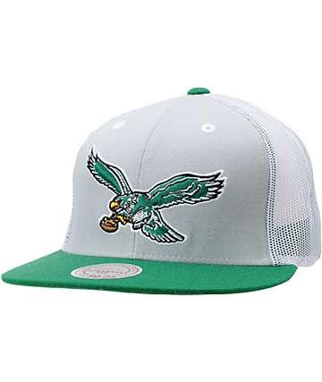 NFL Mitchell and Ness Philadelphia Eagles Mesh Snapback Hat