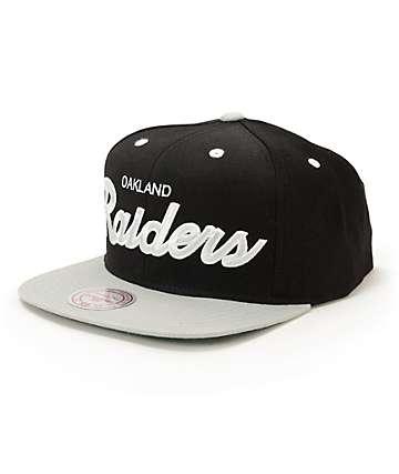 NFL Mitchell and Ness Raiders 2 Tone Script Snapback Hat