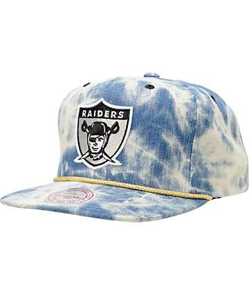 NFL Mitchell and Ness Raiders Acid Wash Blue Snapback Hat