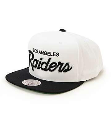 NFL Mitchell and Ness Raiders Script 2 Tone Snapback Hat