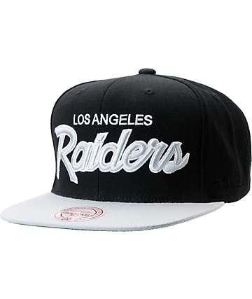 NFL Mitchell and Ness Raiders Script BOTB Black Snapback Hat