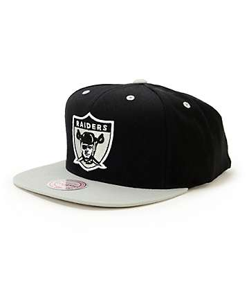 NFL Mitchell and Ness Raiders Standard Lock 2 Tone Snapback Hat