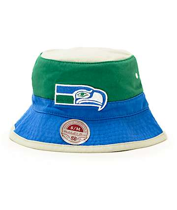 NFL Mitchell and Ness Seahawks Color Blocked Bucket Hat