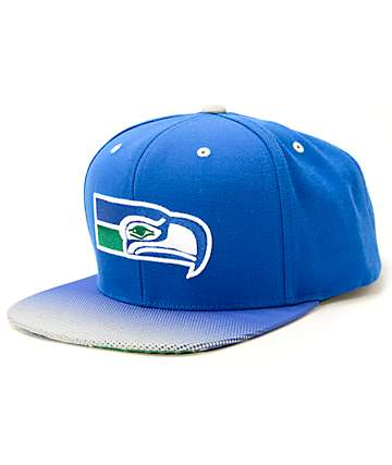 NFL Mitchell and Ness Seahawks Stop On A Dime Snapback Hat