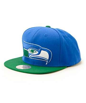 NFL Mitchell and Ness Seahawks XL Logo Snapback Hat