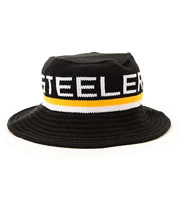 NFL Mitchell and Ness Steelers Knit Bucket Hat