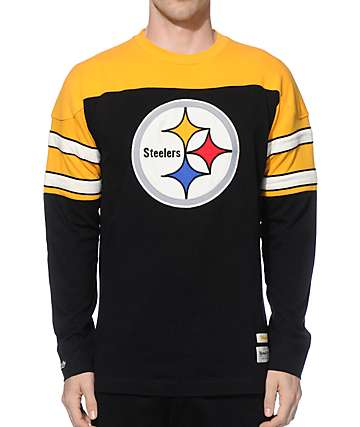 NFL Mitchell and Ness Steelers Pump Fake Knit Jersey