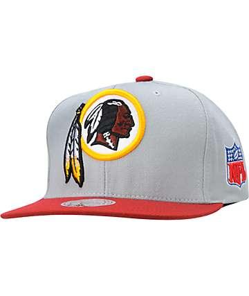 NFL Mitchell and Ness Washington Redskins Grey XL Snapback Hat