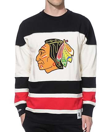 NHL Mitchell and Ness Blackhawks Changing On The Fly Knit Jersey