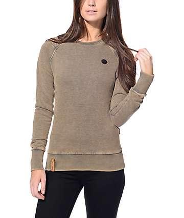 Naketano Blumchen Anthracite Melange Crew Neck Sweatshirt