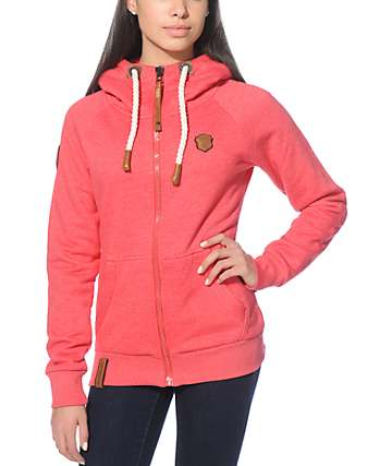 Naketano Brazzo VI Cherry Melange Zip Up Hoodie