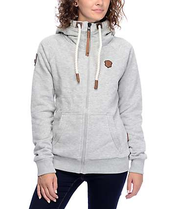 Naketano Brazzo VII Grey Melange Zip Up Hoodie