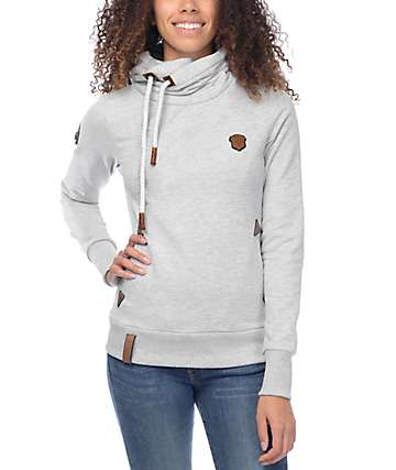 Naketano Darth IX Grey Melange Hoodie
