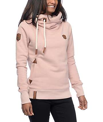 Naketano Darth IX sudadera rosa con capucha