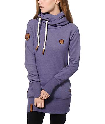 Naketano Darth Long VI Berry Hoodie