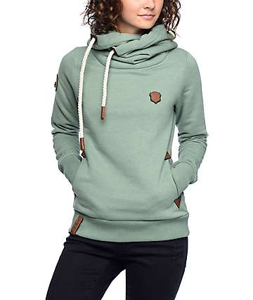 Naketano Darth VIII Green Melange Hoodie