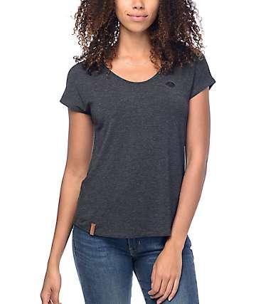 Naketano Falscher Smiley camiseta en gris mezclado