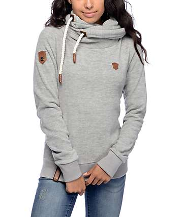 Naketano Glitzermusch III Grey Tech Fleece