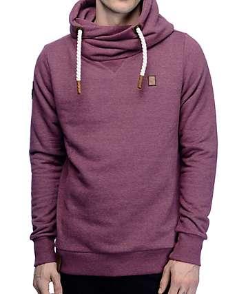 Naketano Kufurbaz Amk Bordeaux Melange Sweatshirt