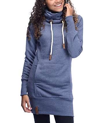 Naketano Salami Jones III sudadera en gris azul