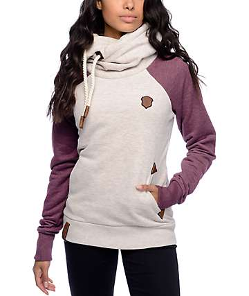 Naketano So Ein Otto II Oatmeal & Bordeaux Hoodie