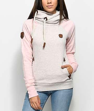 Naketano So Ein Otto IV Oatmeal & Pink Hoodie